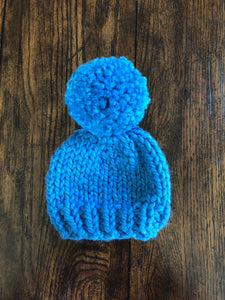 Little Ones Solid Color Hat with Pom Pom