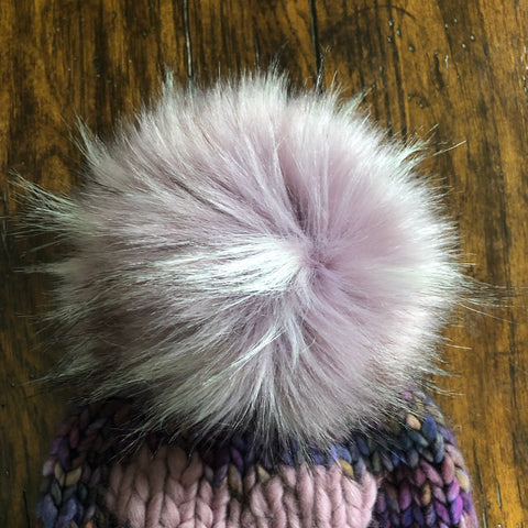 Dusty Violet Faux Fur Pom Pom