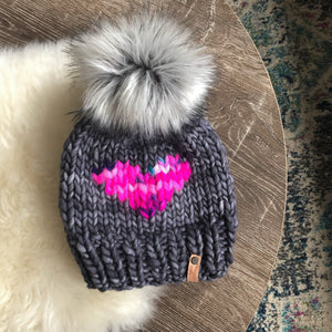 Luxury Line Big Heart Beanie