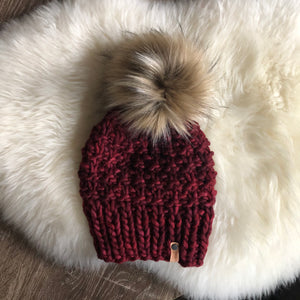 Ready to Ship Shaughnessy Hat in Red Stitch