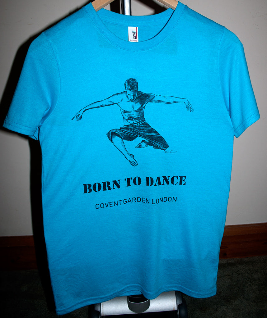 "Boys Dance 2 ""Marcus"" T-shirt in Heather Caribbean Blue"