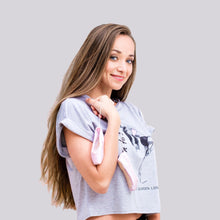 "Load image into Gallery viewer, Born to Dance ""Amber"" Crop Top in Grey"