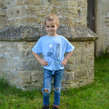 "Tiny Dancer ""Miss Molly"" Centre Knot Top in Light Blue"