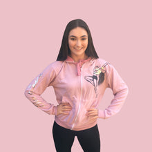 "Load image into Gallery viewer, ""Emma"" Long Zipped Hoodie in Pale Dusky Rose"