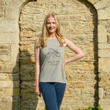 My First Pointe Shoes - Floaty Vest Top in Heather Grey