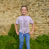 "The Tiny Dancer ""Miss Tamzin"" Centre Knot Top in Lilac"