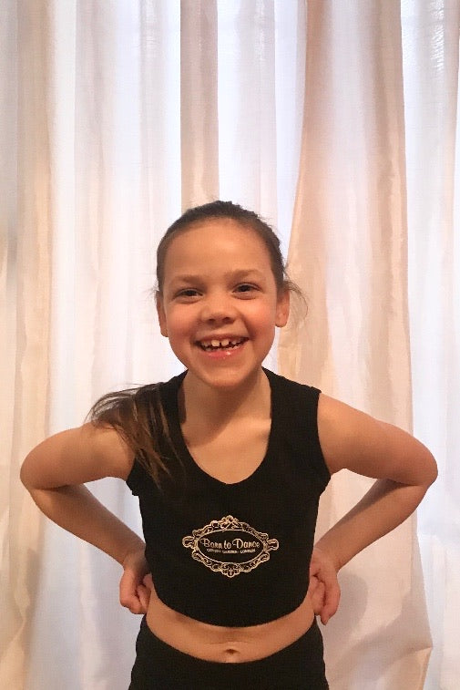 """Born to Dance"" Acro Top in Black"