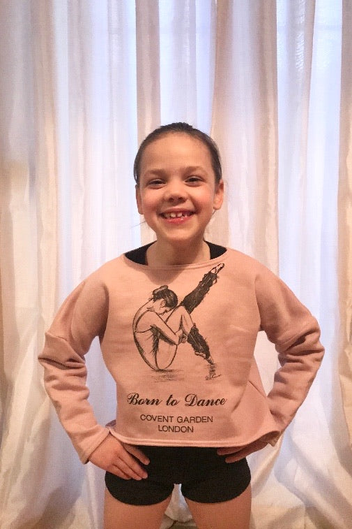 "The Tiny Dancer ""Sasha"" Long Sleeved Top in Pale Dusky Rose"