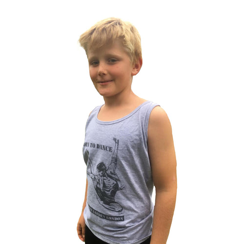 "Boys Dance 2 ""Alex"" Vest Top in Grey"