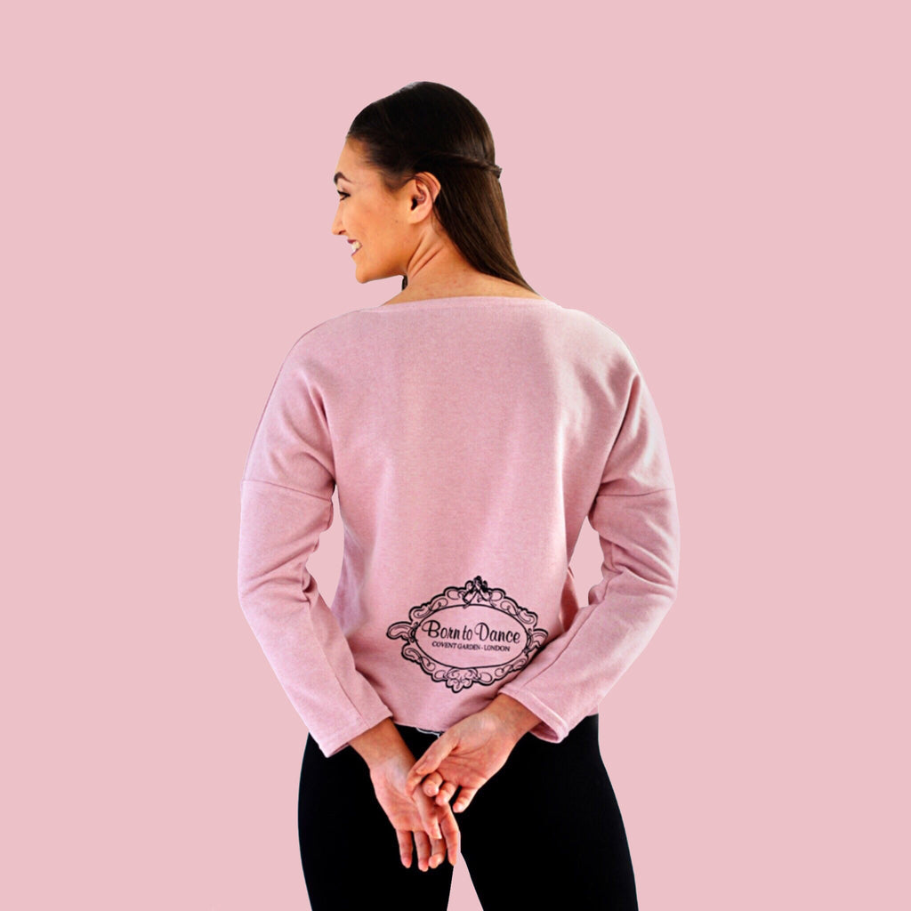 """Emma"" Long Sleeved Top in Pale Dusky Rose"