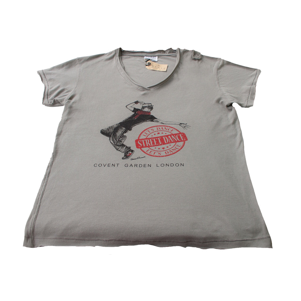 "Boys Dance 2 ""Luca"" Baggy fit V neck t-shirt in Gray / Green"