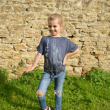 "The Tiny Dancer ""Miss Tamzin"" Centre Knot Top in Dark Grey"
