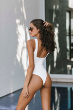 Brigitte One Piece - White Rib