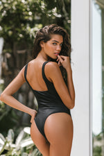 Brigitte One Piece - Black Rib