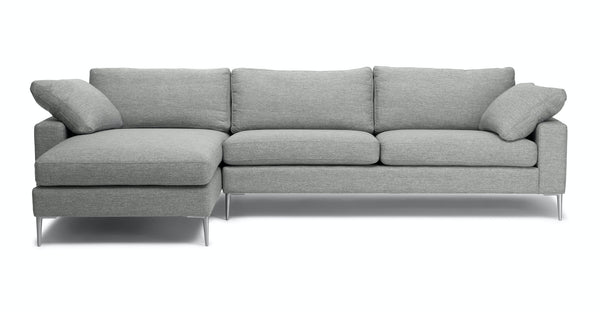 Stellar Winter Gray Left Sectional Sofa