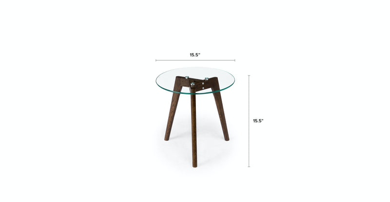 Lucid Walnut Side Table