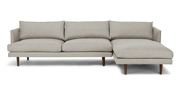 Baron Seasalt Gray Right Sectional Sofa