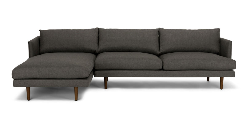 Baron Graphite Gray Left Sectional Sofa