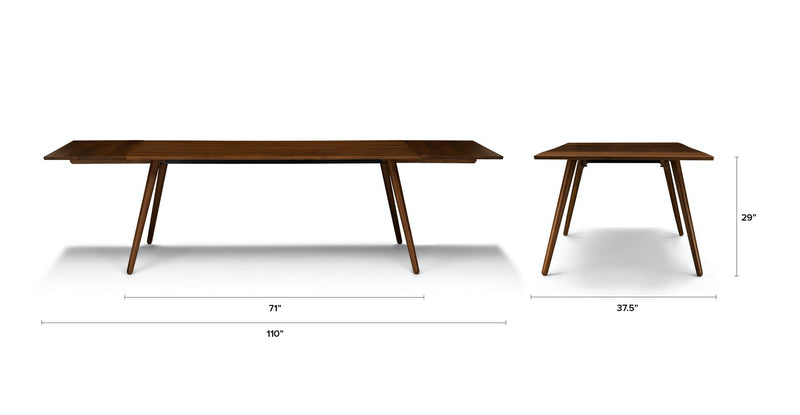 Soriel Walnut Dining Table, Extendable