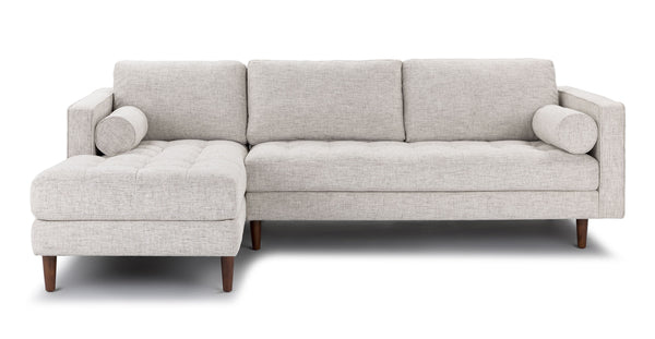 Auriese Birch Ivory Left Sectional Sofa