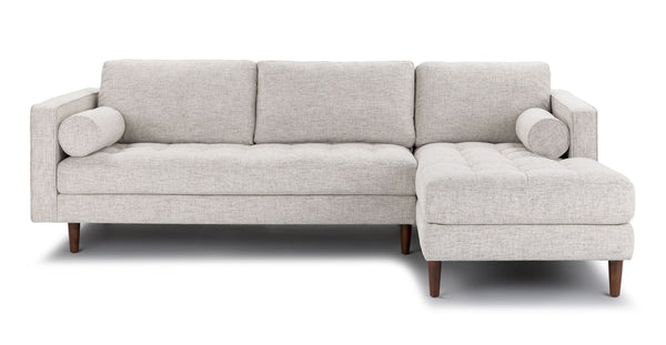 Auriese Birch Ivory Right Sectional Sofa