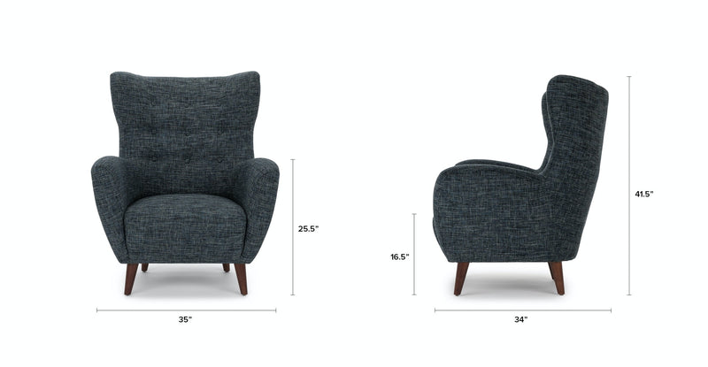 Chiq Blue Berry Armchair