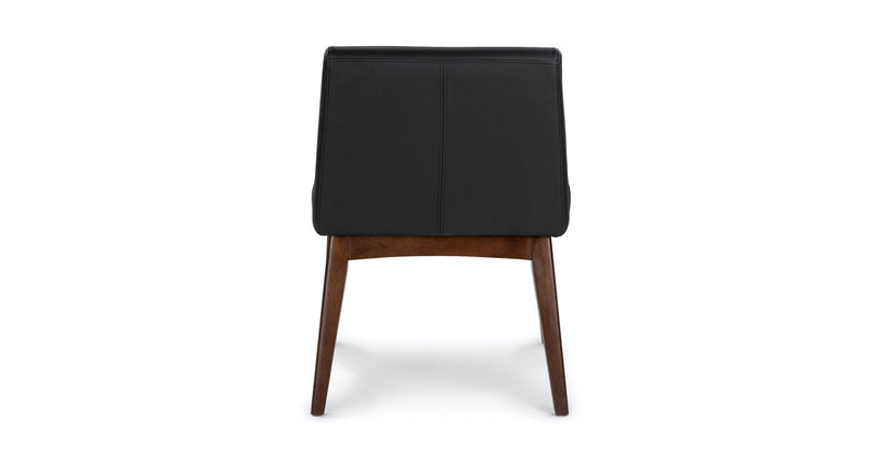 Passage Black Leather Dining Chair