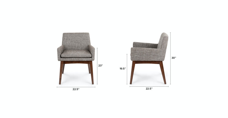 Passage Volcanic Gray Dining Armchair