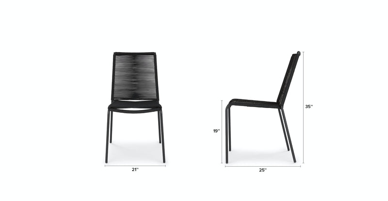 Luna Ember Black Dining Chair