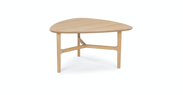 Arenne Light Oak Triangular Coffee Table