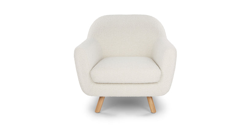 Maine Ivory Boucle Lounge Chair