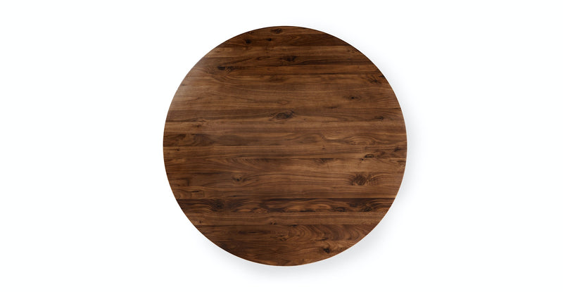 Sonna Walnut Round Dining Table