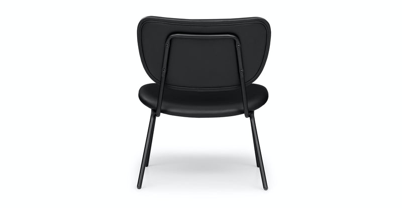 Eccetto Black Leather Lounge Chair