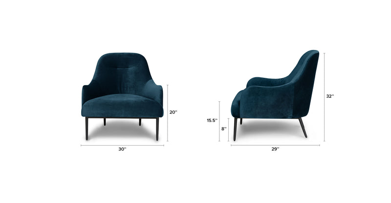 Enfold Mercury Blue Chair