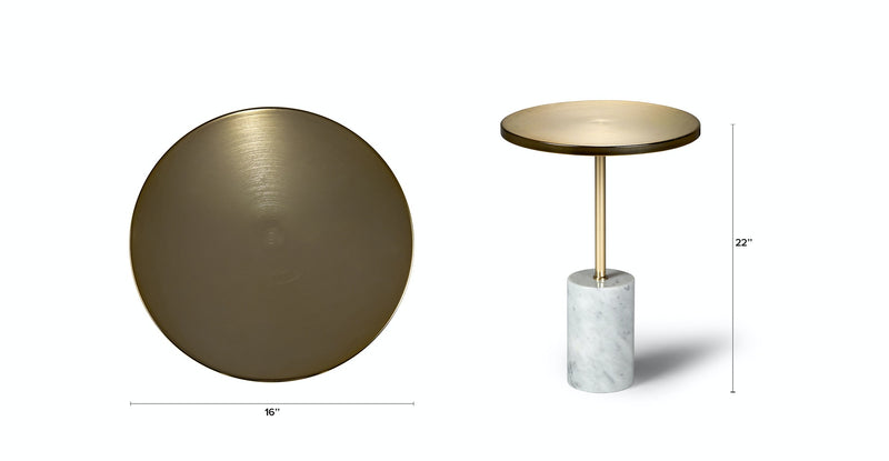 Ouros Brass Side Table