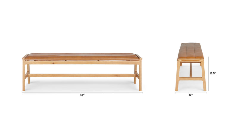 Heiwa Toscana Tan Oak Bench