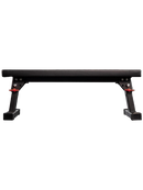 Fold-Up Utility Bench introduces a new hinged leg + detent pin design that makes the unit uniquely collapsible for improved space efficiency