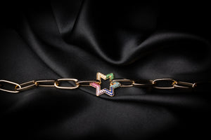 Inna Starry Rainbow Gold Bracelet