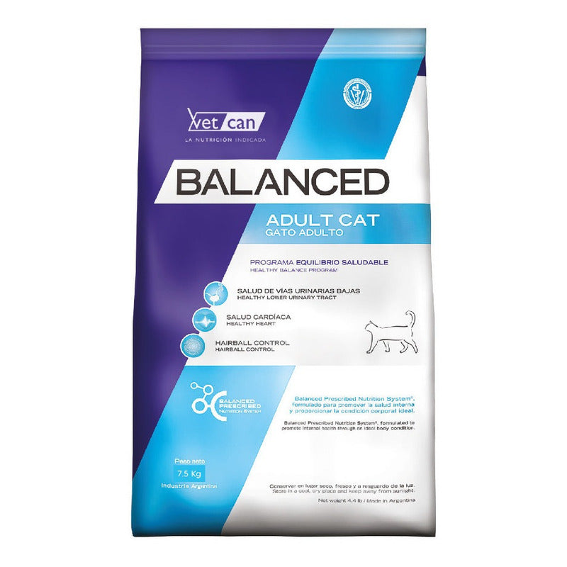 Vet Can Balanced Gato Adulto 7.5kg