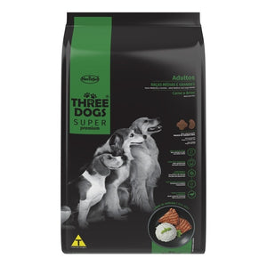 Three Dogs Super Premium Adulto Medium 10.1 Kg Con Regalo