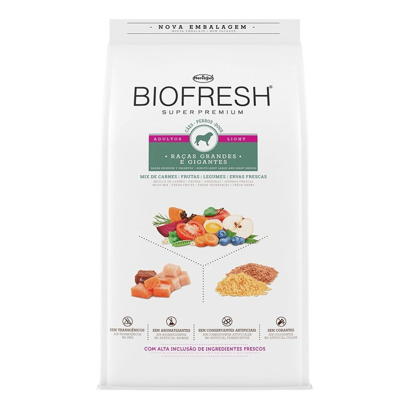 Biofresh Super Premium Light Raza Grande 12kg Con Regalo