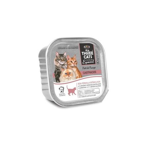 Pate Gato Three Cats Castrado 90g (caja X12)