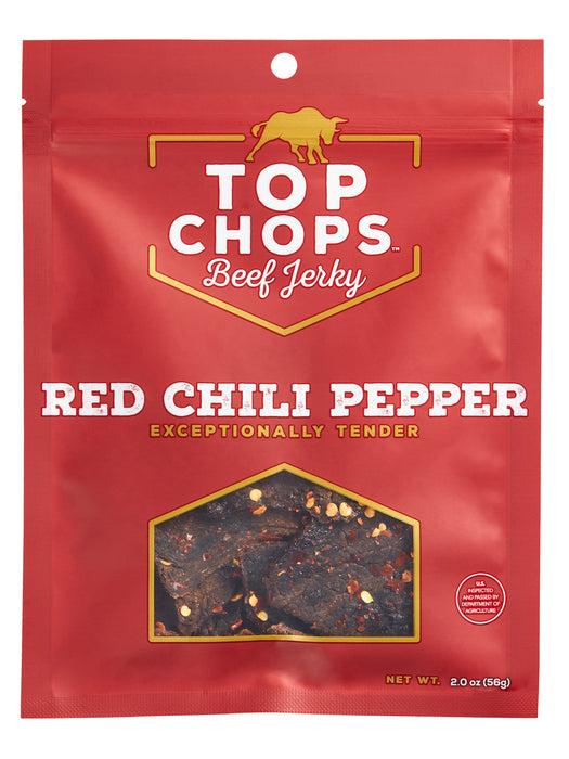 TOP Chops Red Chili Pepper Beef Jerky 2oz