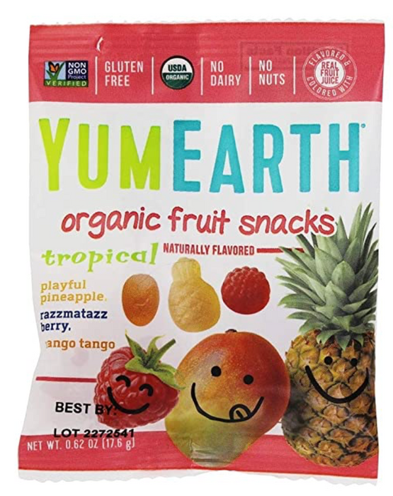 YUMEARTH Organic Tropical Fruit Snacks Yum Earth 5 (0.62 oz) Packs Bag