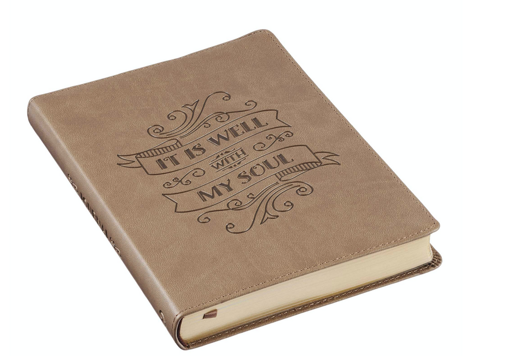 Brown Faux Leather Journal | It is Well With My Soul