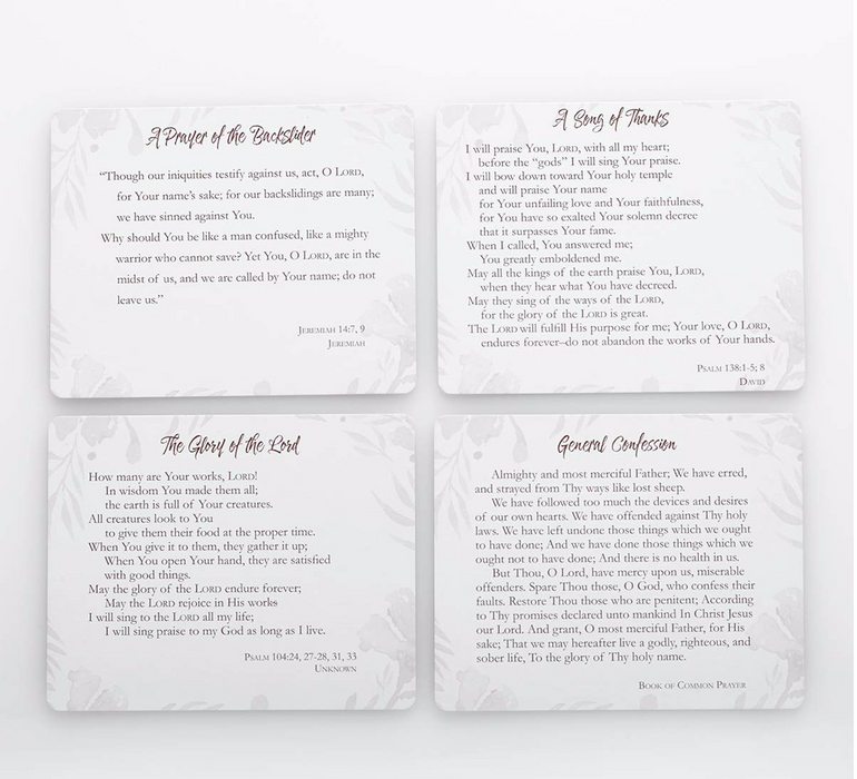Christian Art Gifts Prayer Cards In Tin | My Prayers – 50 Double Sided Cards | Bible Verse Encouraging Gift for Women