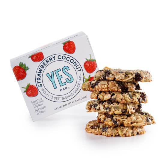 Strawberry Coconut YES Bar (Vegan, Gluten-Free, Low Sugar)