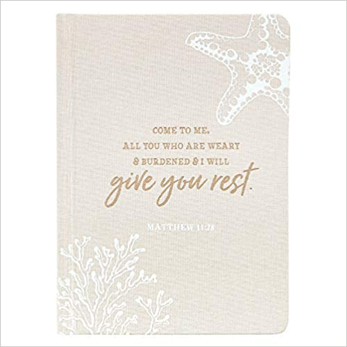 Give You Rest Hardcover Linen Journal - Matthew 11:28