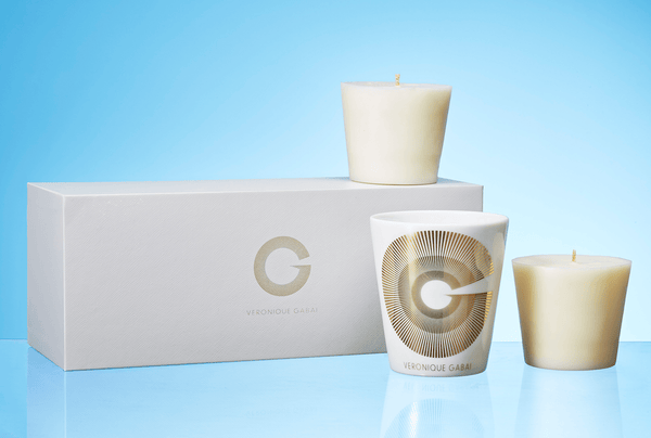 veronique gabai candle set packaging