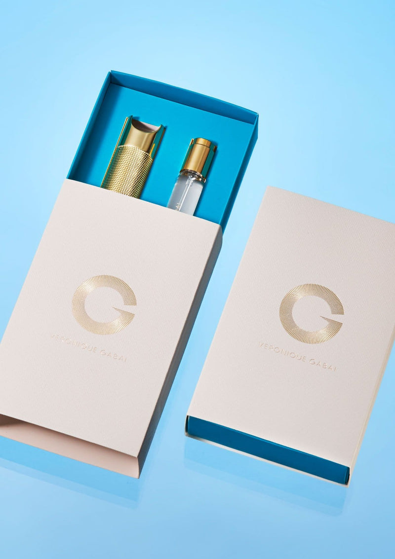 Veronique Gabai perfume travel case product packaging
